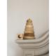 Drewniana piramidka, wieża z klocków.