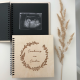 Wooden diary of pregnancy.