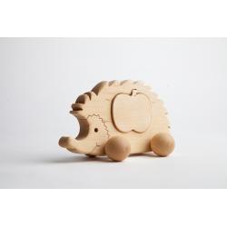 Wooden hedgehog.