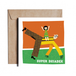 Greeting card SUPER DZIADEK