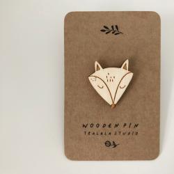 Wooden pin fox .