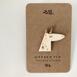 Wooden pin unicorn