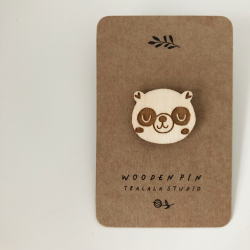 Wooden pin happy panda
