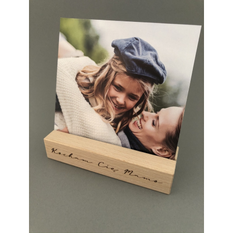 Personalized wooden photo / postcard holder / stand