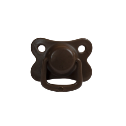 2-pack pacifiers, chocolate 0 m+