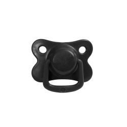 2-pack pacifiers, black 6 m+