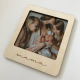 Magnetic wooden photo frame.
