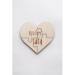 "Wooden puzzle "" You will be ......a Daddy""."
