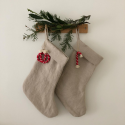 Linen christmas stocking.