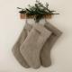 Linen christmas stocking.