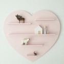Wooden shelf - HEART