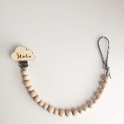Personalized wooden dummy chain CLOUD