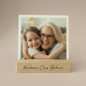 Wooden photo / postcard holder / stand