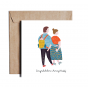 Greeting card CONGRATULATIONS MOMMY&DADDY