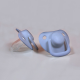 2-pack pacifiers, powder blue  0 m+