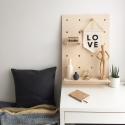 Drewniana tablica / półka / organizer / pegboard. Rozmiar M.