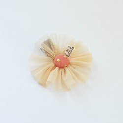 Kollale - hair clip meadow tulle beige flower