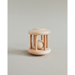 Wooden rattle.