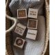 """Wooden blocks - """"Birth certificate"""""""