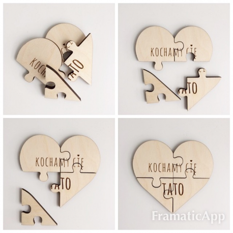 "Puzzle serce ""KOCHAM CIĘ TATO"""