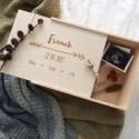 Wooden keepsake box for baby.