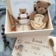 Drewniane pudełko na pamiątki z dzieciństwa