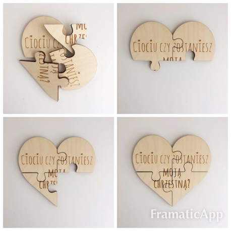 """Wooden puzzle """" You will be ... Grandparents""""."""
