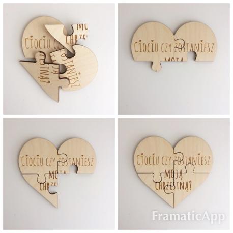 Puzzle serce DLA MATKI CHRZESTNEJ
