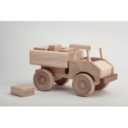 Wooden toy car blocks