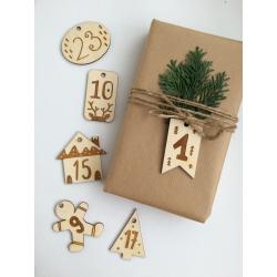 Kalendarz adwentowy - 24 drewniane plakietki