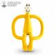 Gryzak masujący ze szczoteczką Matchstick Monkey Małpka żółty