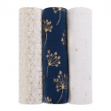 aden+anais metallic gold deco 3-pack classic swaddles