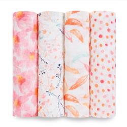 aden+anais petal blooms classic swaddle set 4-pack