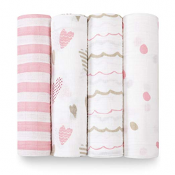 aden+anais heartbreaker classic swaddle set 4-pack