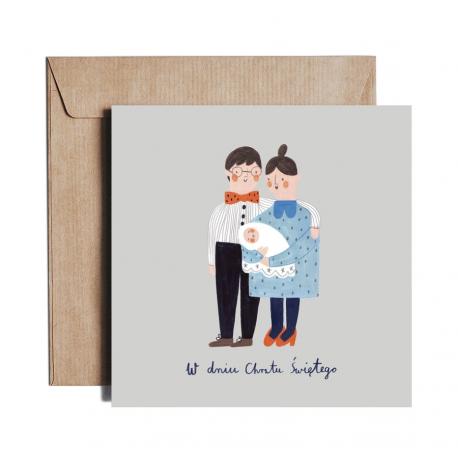 Baptism Card Holy Family