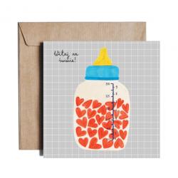 Baby arrival card WITAJ NA ŚWIECIE