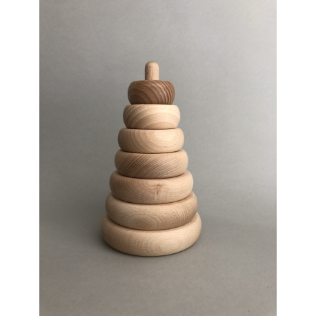 Wooden pyramid, eco toy.