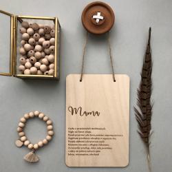 Drewniana plakietka dla Mamy.